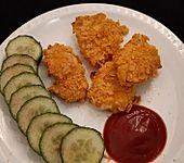 Chicken Nuggets mit Knusperpanade aus dem Backofen (Bild)
