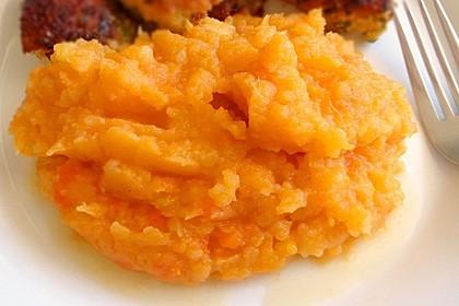 Kartoffelpüree aus Kartoffeln und Süßkartoffeln 1