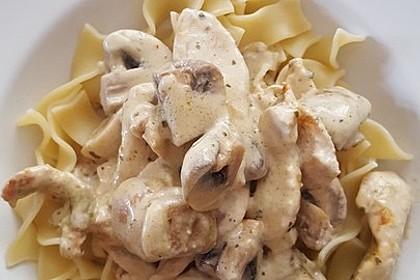 Spätzle mit Hähnchen-Champignonsoße 2