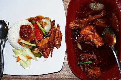 Ayam asam manis ala Raja Lombok