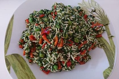 Gemüsereis mit grünem Curry