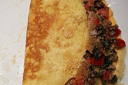 Hack-Omelette mit Paprikafüllung