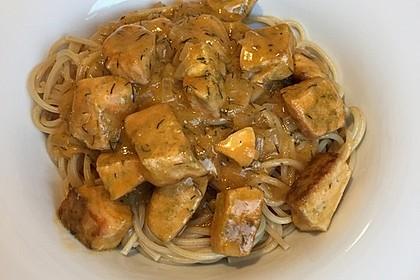 Spaghetti mit Lachs-Dill-Sauce (Bild)