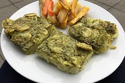 Veganes Bärlauch-Kartoffel-Gratin