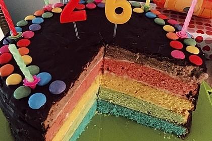 Regenbogen Kuchen 1