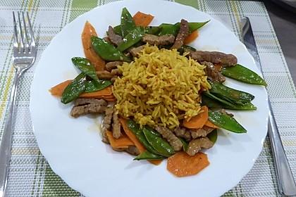 Asiatische Gemüsepfanne mit Basmatireis