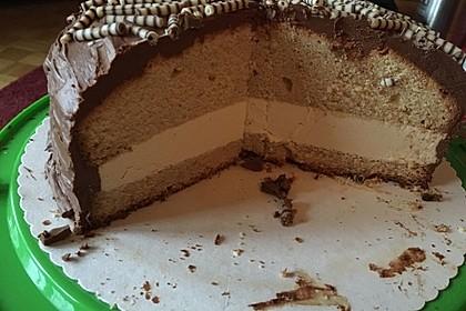 Bailey's Kuchen mit Bailey's-Buttercreme und Schokoladenbuttercreme