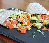 Gemüse-Avocado-Wrap (Bild)