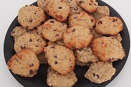Haferflocken-Bananen-Cookies mit Schokotropfen 1