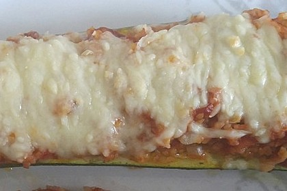 Gefüllte Zucchini mit Bulgur