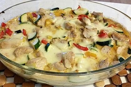 Mozzarella-Hähnchen-Auflauf
