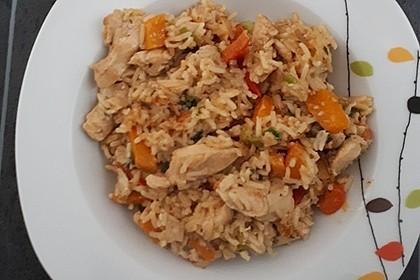 Reispfanne mit Hähnchen 1