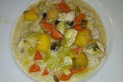 Hähnchen-Kokos-Suppe mit Mango (Bild)