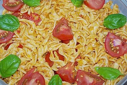 Mediterraner Spaghettisalat mit Pesto rosso 27