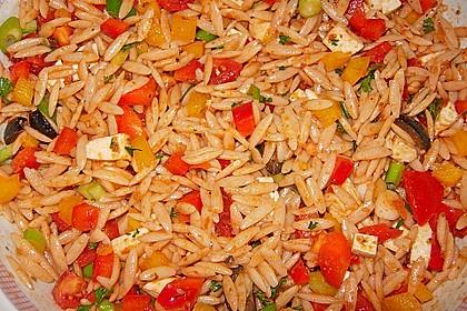 Mediterraner Spaghettisalat mit Pesto rosso 8