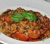 Reisnudeln mit Auberginen und Tomaten (Bild)