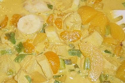 Geschnetzeltes Bombay mit Erdnuss - Reis (Bild)