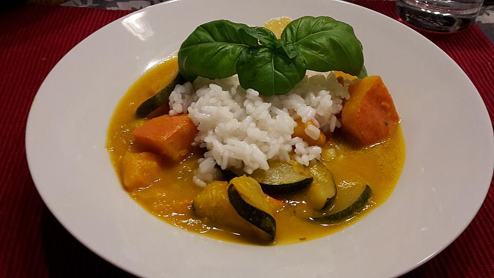 Kürbis Zucchini Gemüse Indische Art Von Cheery Chefkoch