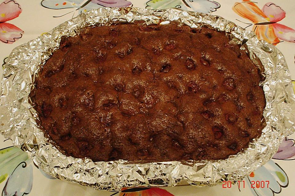 Schneller Schoko Kirsch Blechkuchen Von Flok Chefkoch De