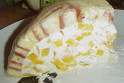 Pfirsich - Charlotte mit Käsesahne 110