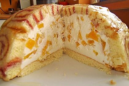 Pfirsich - Charlotte mit Käsesahne 10
