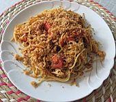 Gebratene Spaghetti (Bild)