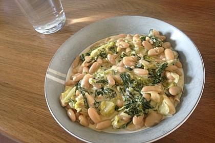Gekochter Weißer Bohnensalat mit Hirtenkäse 2