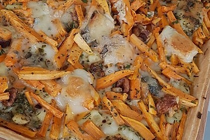 Süßkartoffel-Gorgonzola-Tarte