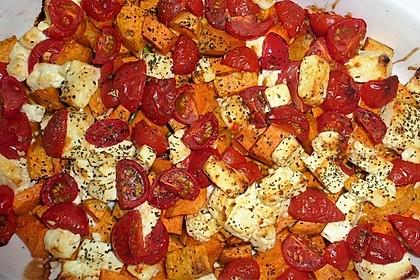 Süßkartoffel-Feta-Auflauf