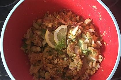 Linsen-Lachs-Salat mit Fenchel und Gurke 2