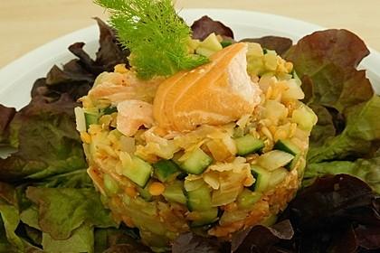 Linsen-Lachs-Salat mit Fenchel und Gurke 1