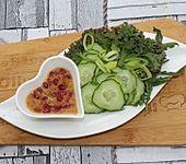 Feigensenf Dressing mit Granatapfel für Blattsalate (Bild)
