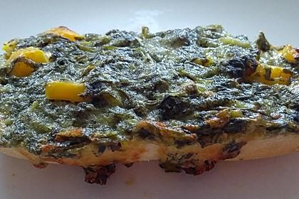 Vegetarische schwäbische Pizzabrötchen (Bild)