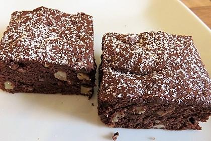 Laktosefreie Brownies mit Walnüssen