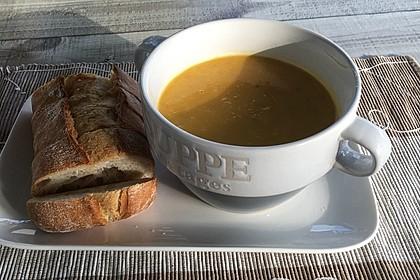Süßkartoffel-Möhren-Ingwer-Suppe