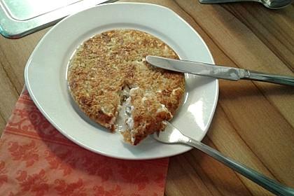 """Mamas """"Omelett"""" ohne Ei mit Haferflocken und Käse"""