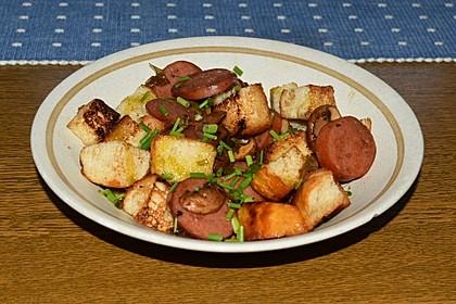 Fleischwurst-Gröstl