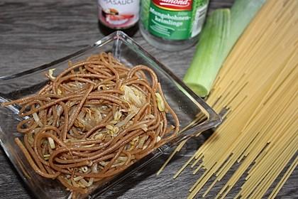 Spaghettisalat nach chinesischer Art