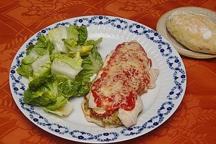 Gefülltes Putenschnitzel mit Chorizo und Avocadopesto
