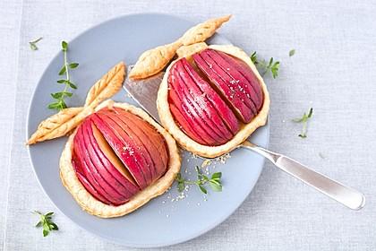 Birnen und Äpfel auf Blätterteig 1