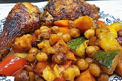 Hühnchenbeine mit Ofengemüse und Nüssen 1