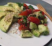Avocado-Gurken-Tomaten-Salat (Bild)