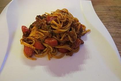 Spaghetti mit Hackfleisch-Paprika-Sauce nach Omas Art 1