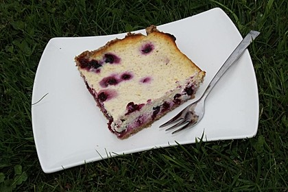 Schwarze Johannisbeere-Dinkel-Quark-Kuchen