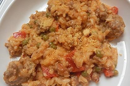 Hackfleisch-Risotto mit Paprika und Erbsen 1