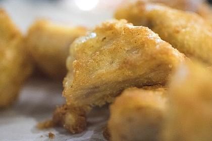 Crunchy Zucchini-Nuggets mit Safrandip