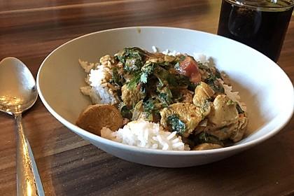 Hühnchen-Curry mit Spinat und Garam masala 1