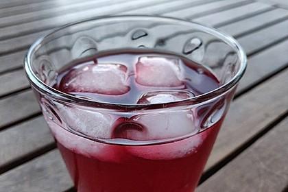 Ingwer-Hibiskus-Eistee basierend auf Starbucks Very Berry Refresher