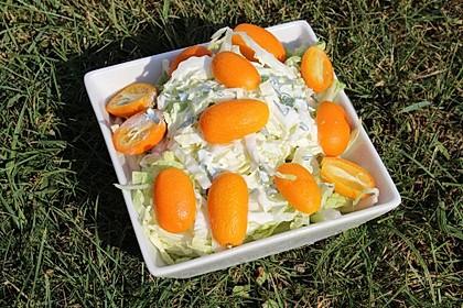 Chinakohlsalat mit Kumquats in Joghurtdressing