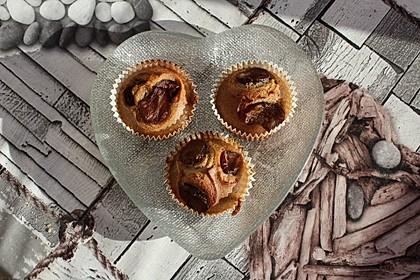 Zwetschgenmuffins mit Orangenschale und Zimt (Bild)
